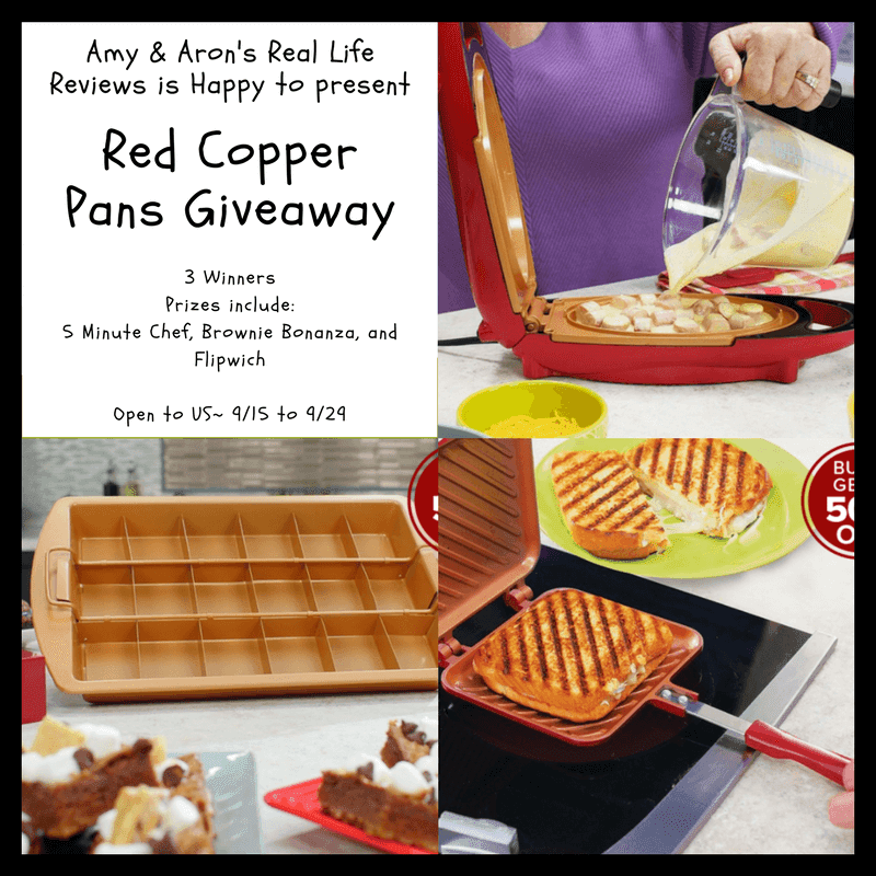 Red Copper Pans Giveaway 9/29 @BulbHeadIdeas