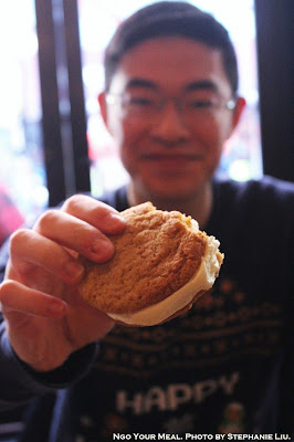 Lex Ice Cream Sandwich: Brown Sugar Cornmeal Cookies with Makers Mark Bourbon Ice Cream at Black Tree