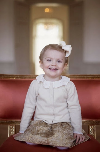 The Swedish Royal Court  released new photos of Princess Estelle  on the occasion of  her 2nd birthday.