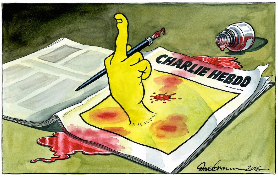 Charlie Hebdo, Cartoon, Dave Brown