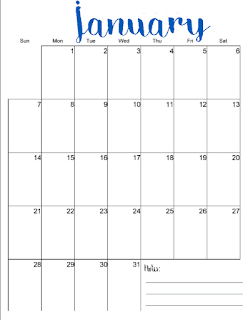 free 2018 calendars