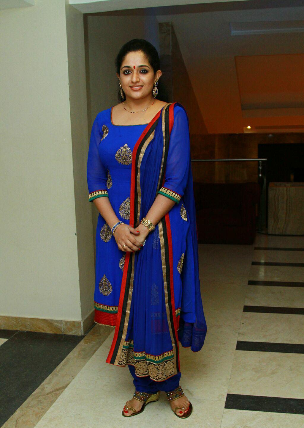 Kavya Madhavan Latest In Blue Churidar-2266