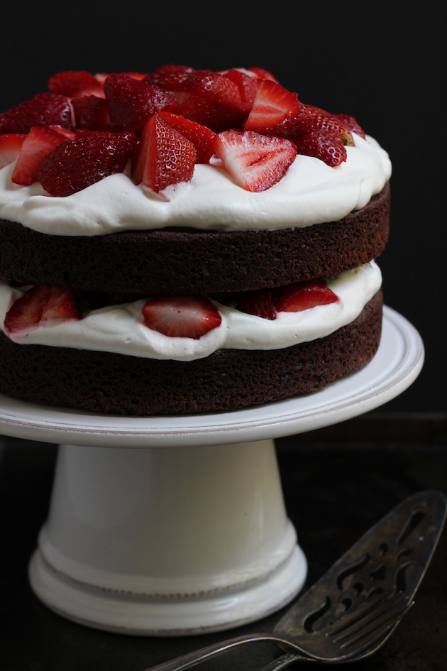 Strawberry Brownie Cake | Savor Home