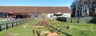 Crazy Golf at Suffolk Leisure Park in Ipswich by Sophia Moles, February 2019
