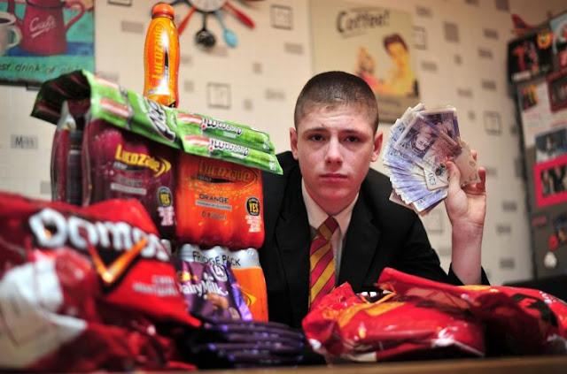 El chico vendía dulces en la escuela y ahora es un empresario