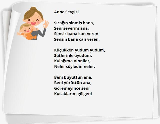anneye şiir