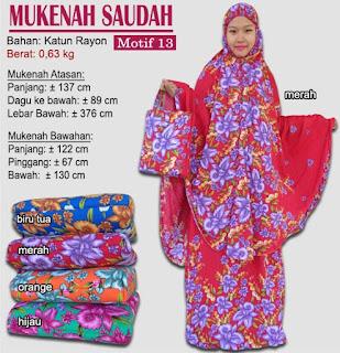 Grosir Mukenah Bali cantik -saudah motif 13