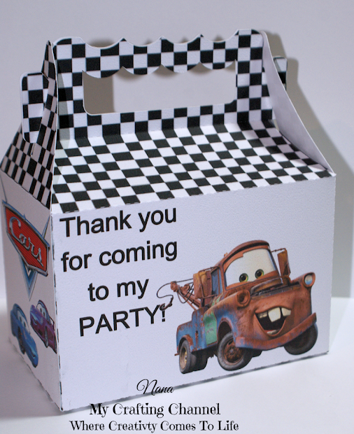 Crafting Channel 2 Disney Cars Treat Boxes
