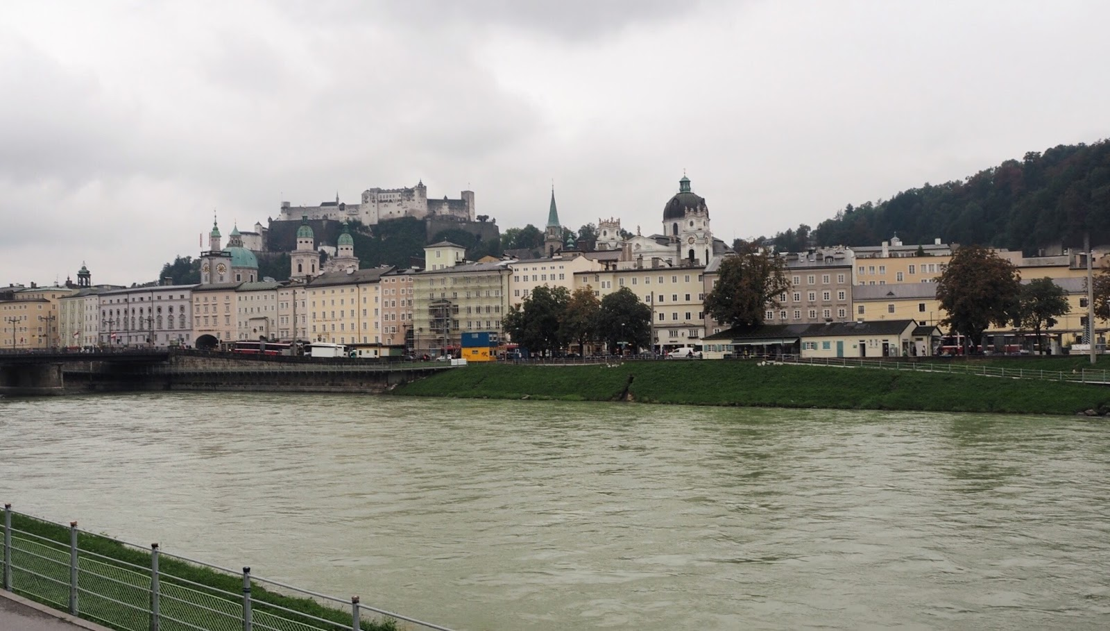Views from Makartsteg Bridge Salzburg
