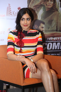 Adha Sharma in a Cute Colorful Jumpsuit Styled By Manasi Aggarwal Promoting movie Commando 2 (145).JPG