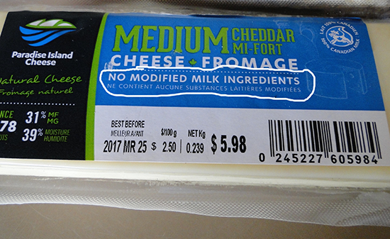 What are modified milk ingredients?