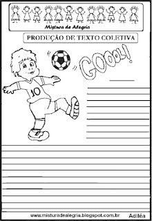 Produção de texto sobre futebol