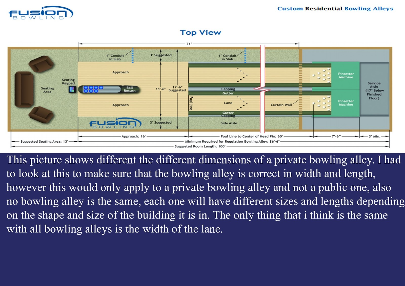Diffe Dimensions Of A Bowling Alley
