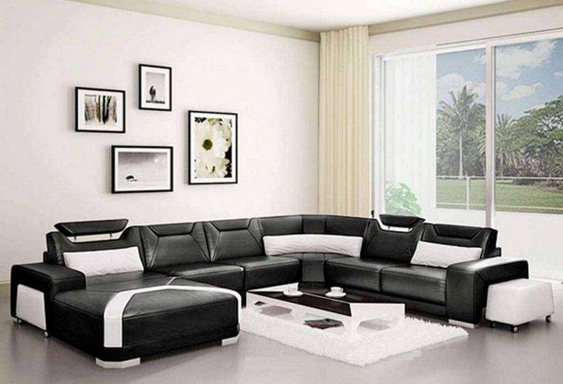 sofa ruang tamu hitam 3