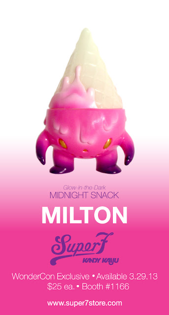 "WonderCon 2013 Exclusive ""Midnight Snack"" Milton Glow in the Dark Vinyl Figure by Super7"
