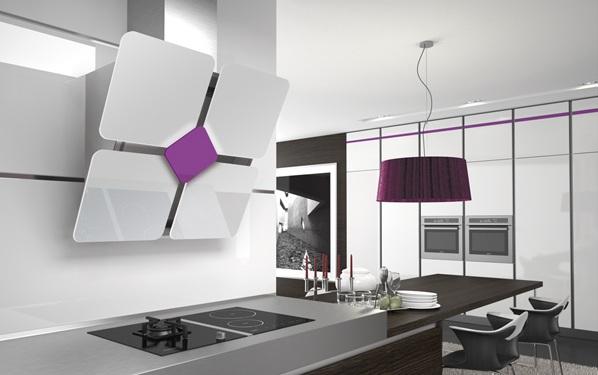 Campanas de cocina de diseño inclinado - Cocinas con estilo