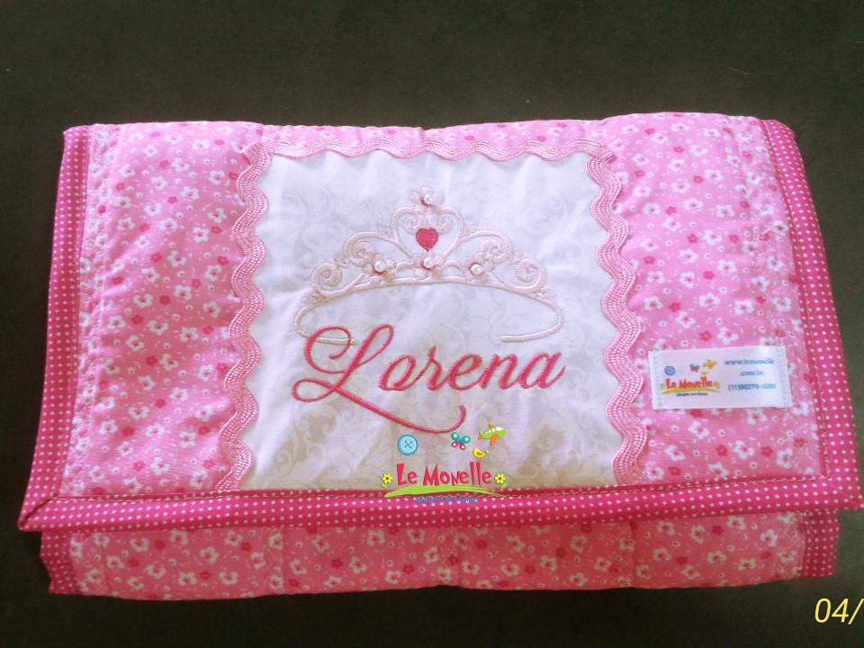 Le Monelle  Bolsa Porta Fraldas Bebê em tecido Lorena 0684b1f74cde