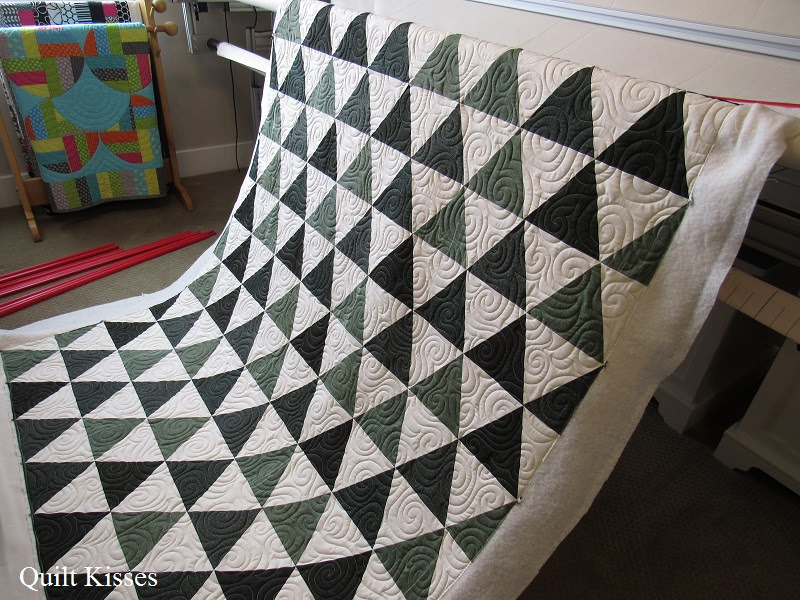 Quilt Kisses: Snowy Pines: A Finished Quilt : masculine quilt designs - Adamdwight.com