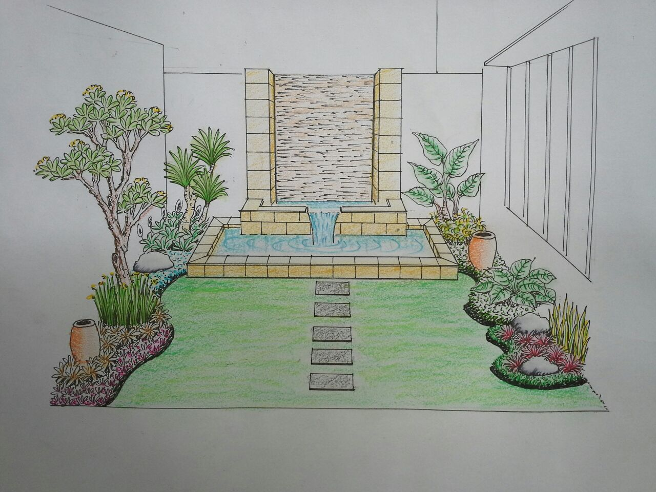 Galeri Sketsa Taman Greengardenasri Green Garden Asri