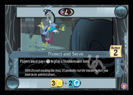 My Little Pony Protect and Serve Absolute Discord CCG Card