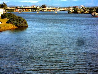 Rio Mampituba, em Torres: Divide RS e SC