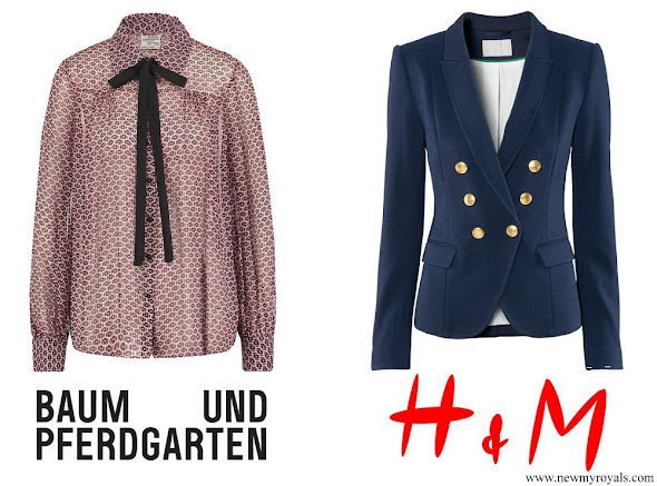 Crown Princess Victoria wore BAUM & PFERDGARTEN Top and H&M Blazer