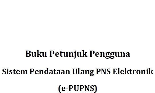 Download Buku Petunjuk ePUPNS BKN