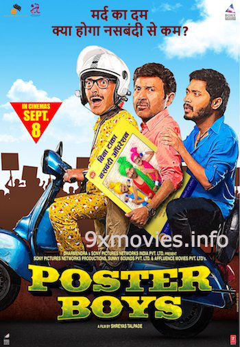 Poster Boys 2017 Hindi 720p DVDRip 950mb