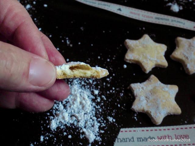 Weihnachtsplätzchen mit wenig Zucker