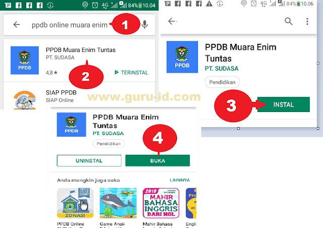 gambar cara install aplikasi android ppdb online muara enim