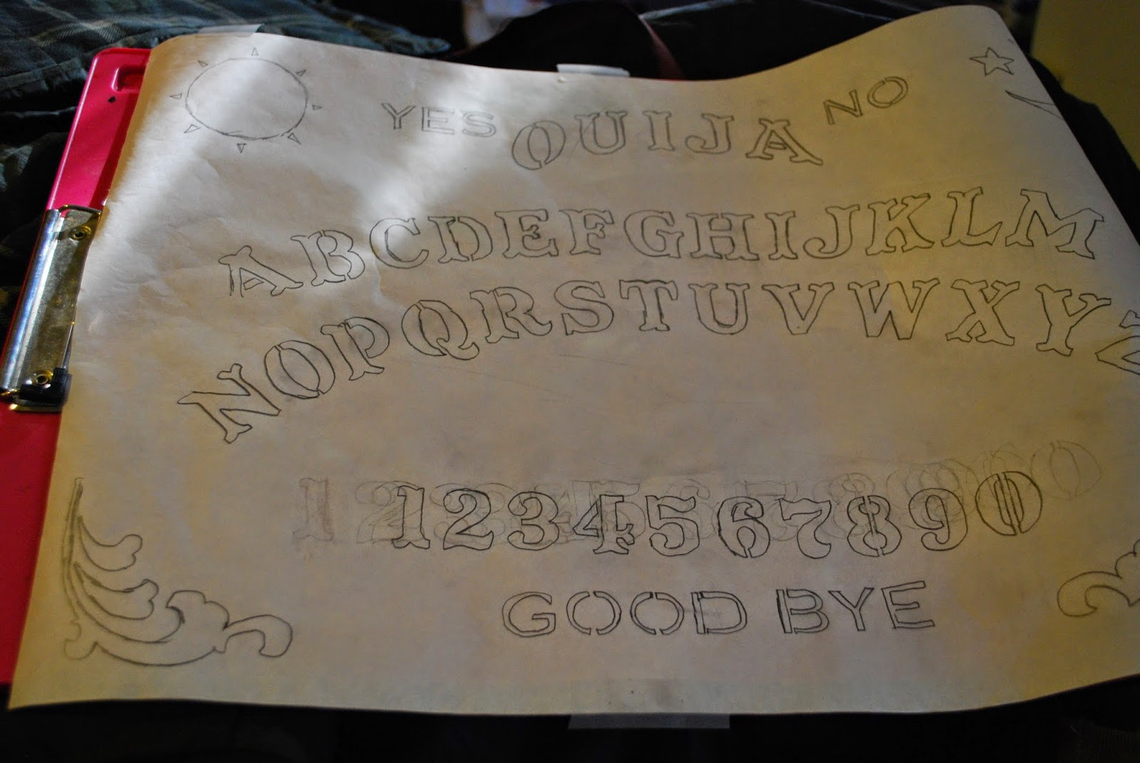 Ouija Board Pillow The Worst Bleach Technique