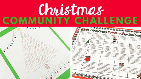 The perfect Christmas classroom community challenge to celebrate the winter holidays in your middle school classroom!