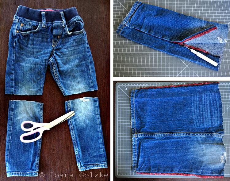 miss red fox: Jeans reloaded (Upcycling): Mäppchen oder Etuis für Kinder