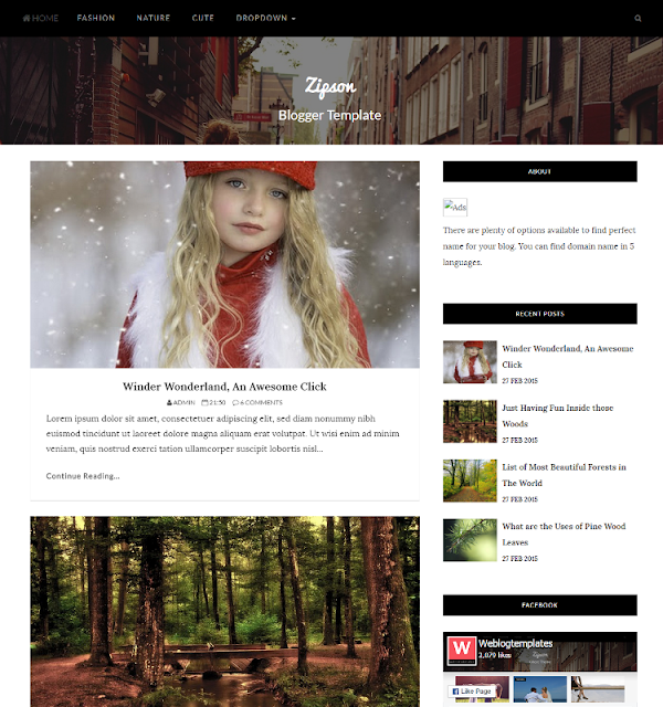 Zipson - Personal Blogger Template