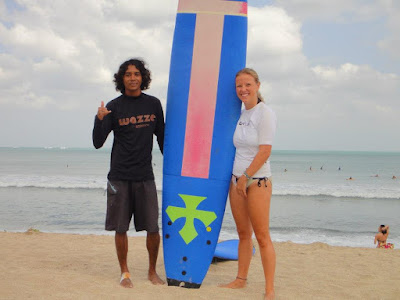 surfing lesson in CIMAJA indonesia