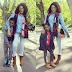 MPNAIJA GIST:Oge Okoye dons denim on denim for outing with her kids