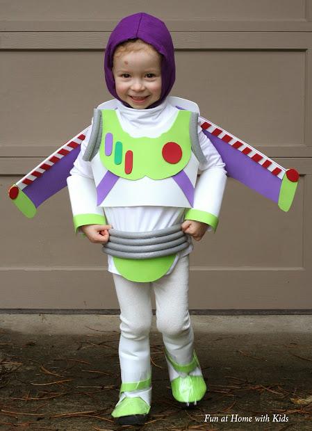 Diy Kids Buzz Lightyear Sew Halloween Costume