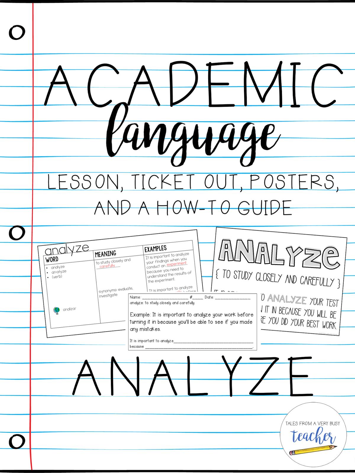 5 Tips For Teaching Academic Language
