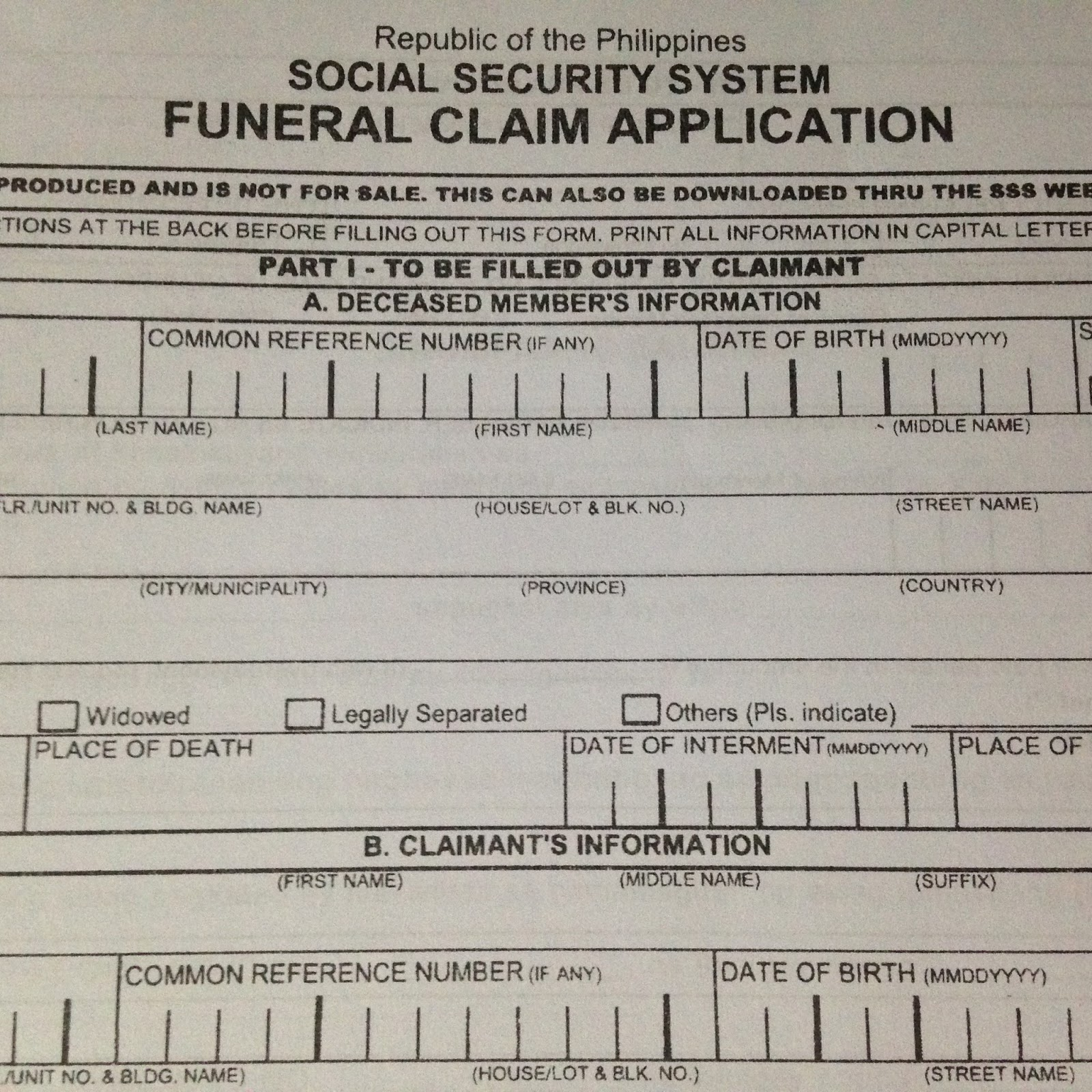 Death and Funeral Benefit Claim Requirements Checklist ...