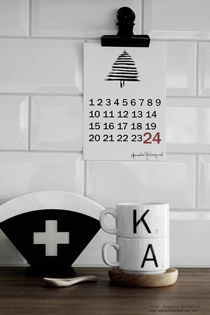 räkna ner poster, posters, almanacka, kalender, december, annelies design, webbutik, webbutiker, webshop, nätbutik, nettbutikk, plakat, plakater, jul, julen 2016, filterhållare, kors, clips, nedräkning, kryssa över dagar, sked, fat av ek