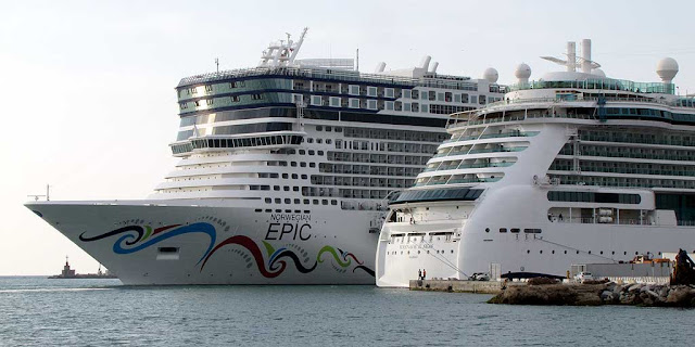 Norwegian Epic cruise ship, IMO 9410569, port of Livorno
