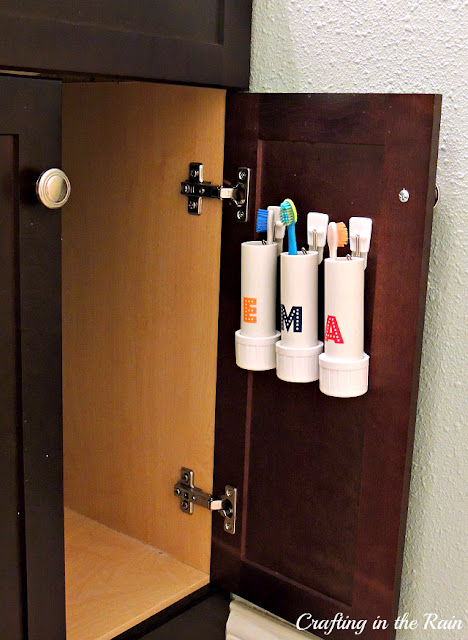 PVC Pipe Toothbrush Holders | Crafting in the Rain on Decorative Sconces Don't Need Electric Toothbrush id=66478