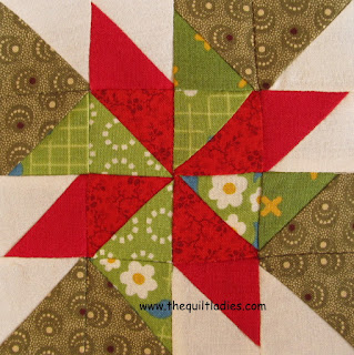 pin wheel quilt pattern tutorial by The Quilt Ladies