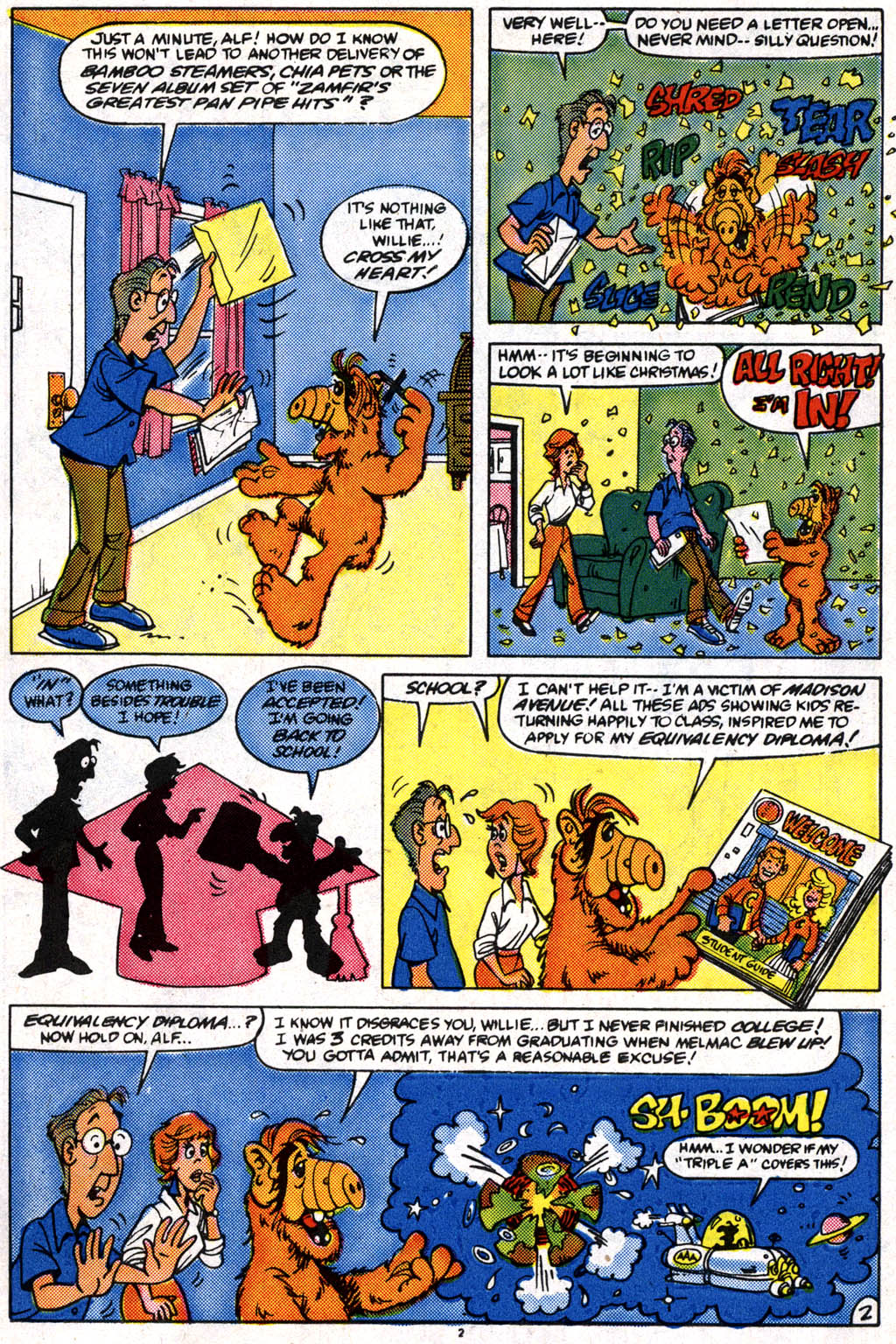 Read online ALF comic -  Issue #10 - 3