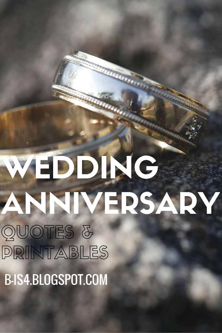B is 4 Wedding Anniversary Quotes and Printables