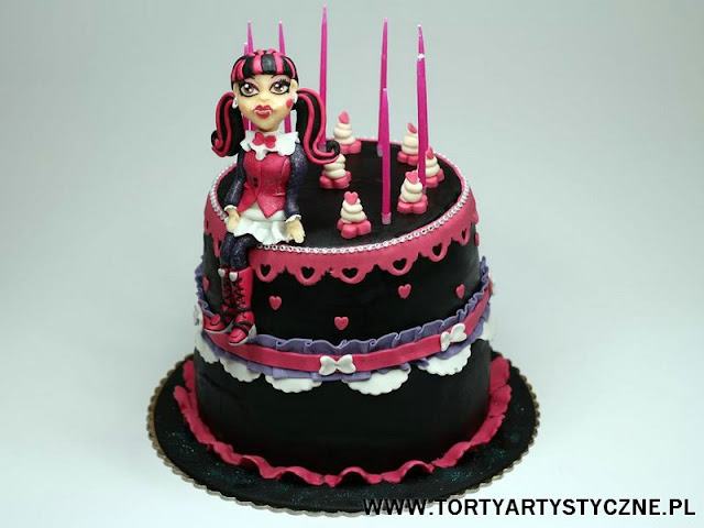 tort monster high z draculaura
