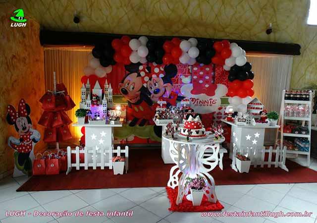 Decoração de festa Minnie -Aniversário infantil - Provençal simples