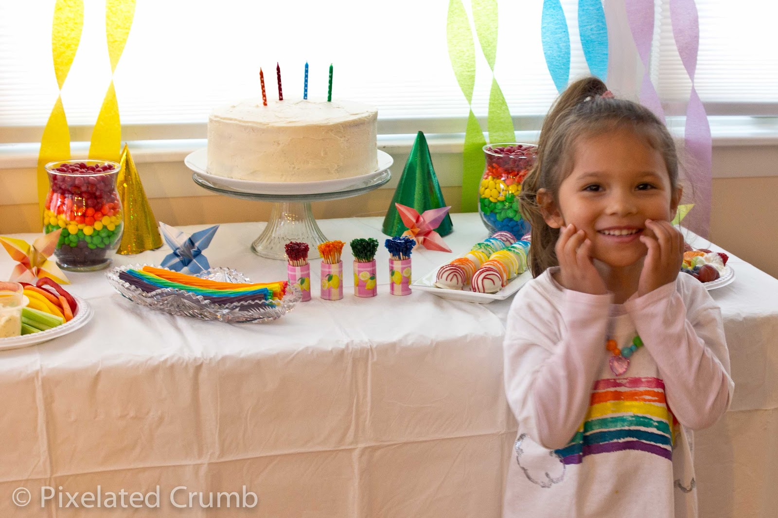 Young and rainbow party girls picture puffy