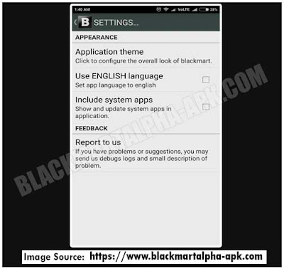 blackmart apk settings screen