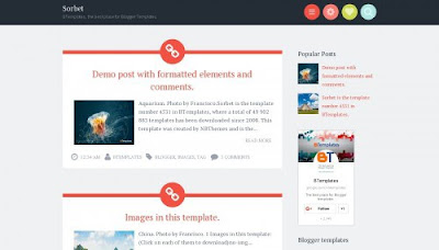 Sorbet Free Blogger Template